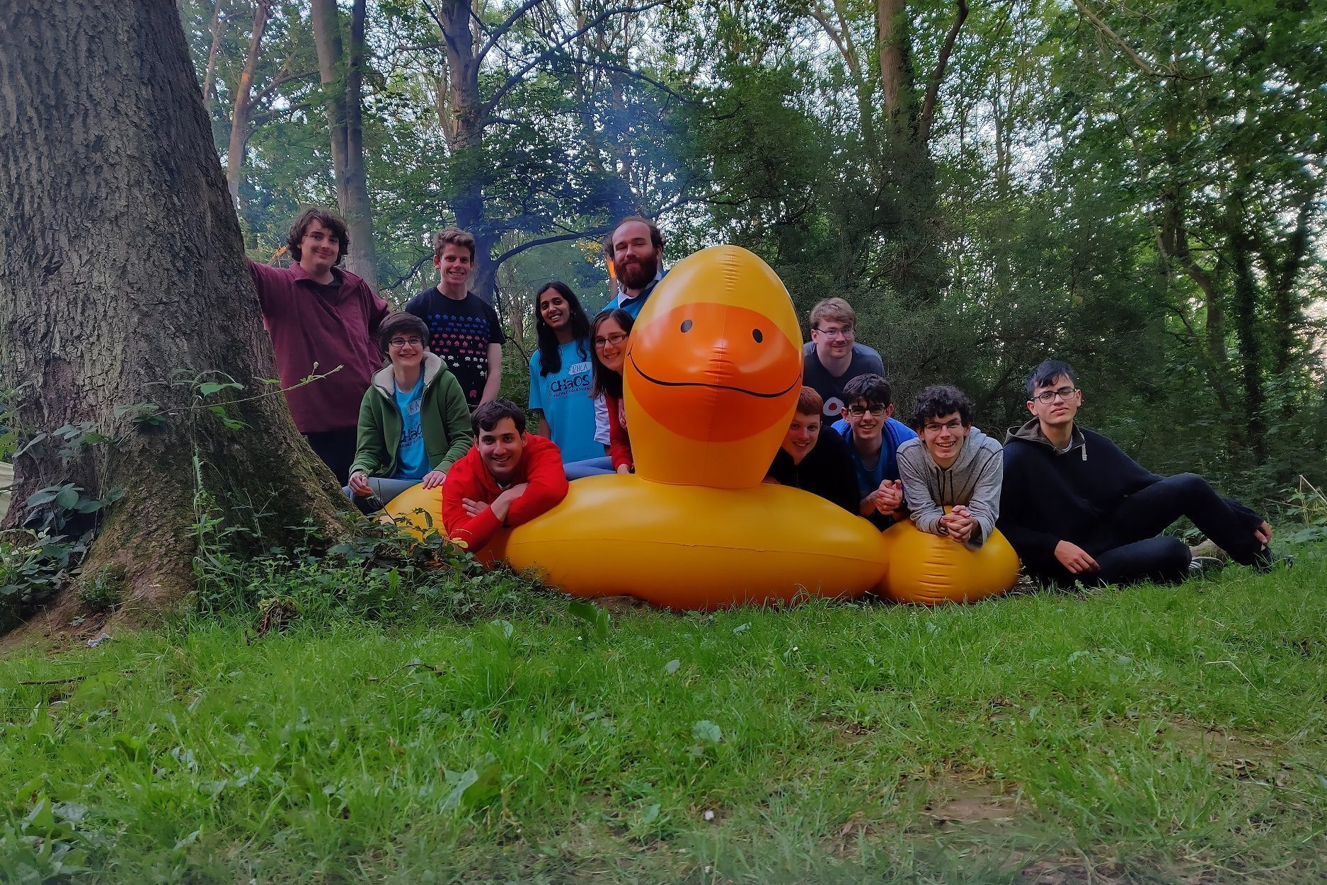 Posing with a Giant Duck!