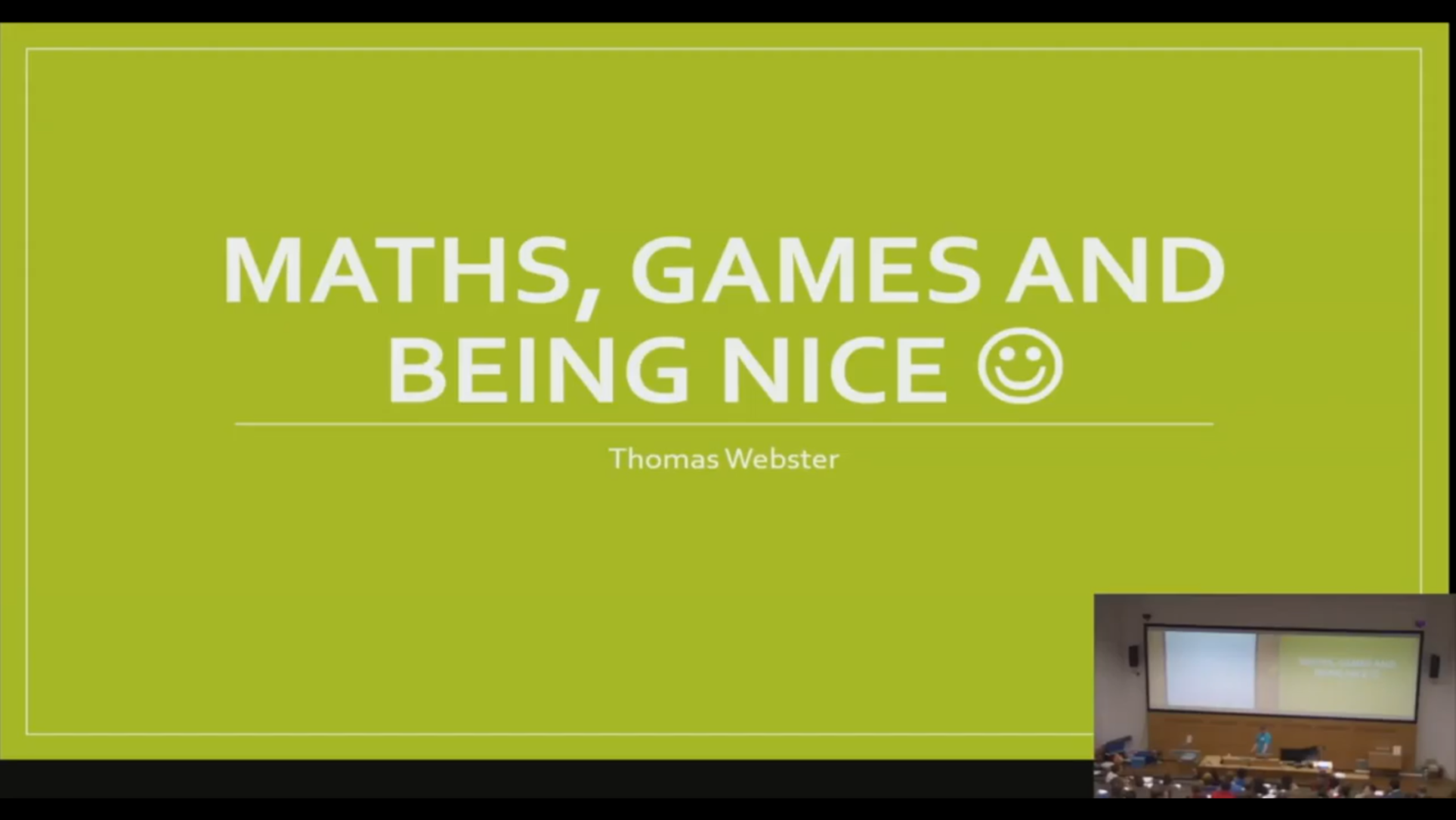Games and the mathematics of being nice