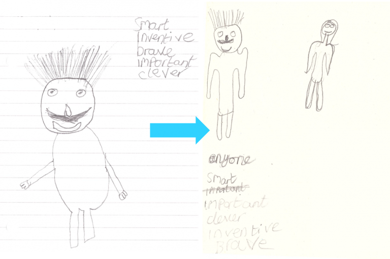 Child's drawings of scientists